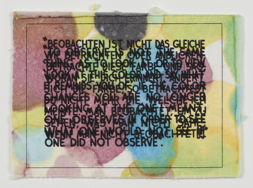 Mel Bochner, <em>If the Color Changes...</em>, 2003