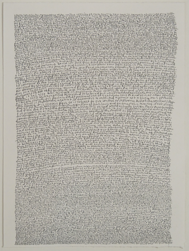Annabel Daou, <em>The Declaration of the Cause and Necessity of Taking Up Arms</em>, 2006