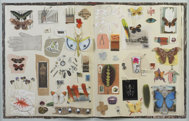 Jane Hammond, Scrapbook, 2003, pigmented inkjet and hand inked woodblock prints on mixed media, 33 x 48 5/8 inches (83.3 x 123.5 cm). © Jane Hammond / Photo: Ellen McDermott