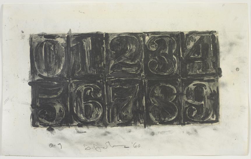 Jasper Johns, <em>0-9</em>, 1960