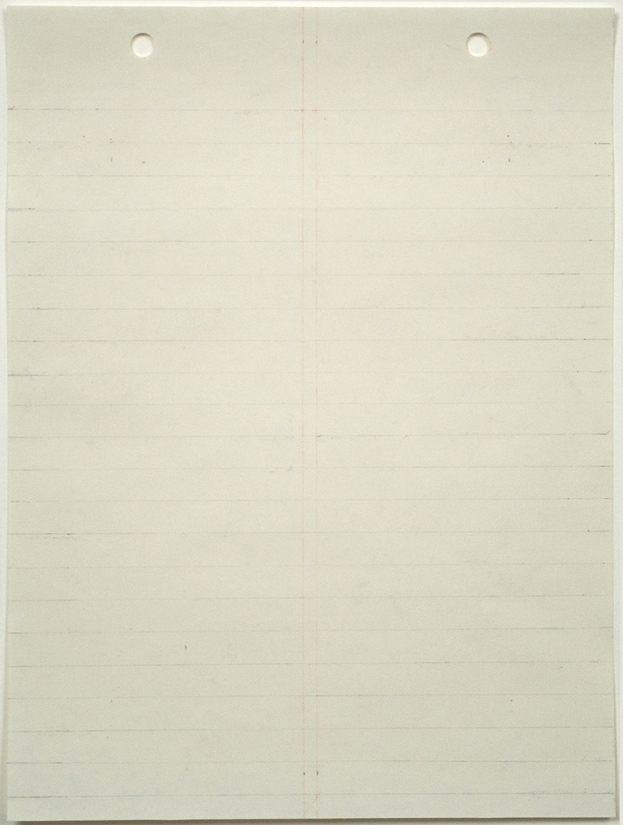 Bronlyn Jones, Untitled #3, from Drafts of an Empty Page, 2009, graphite and colored pencil on artist's butcher paper in artist's frame, 7 7/8 x 5 7/8 inches (20 x 14.9 cm). © Bronlyn Jones / Photo: Laura Mitchell