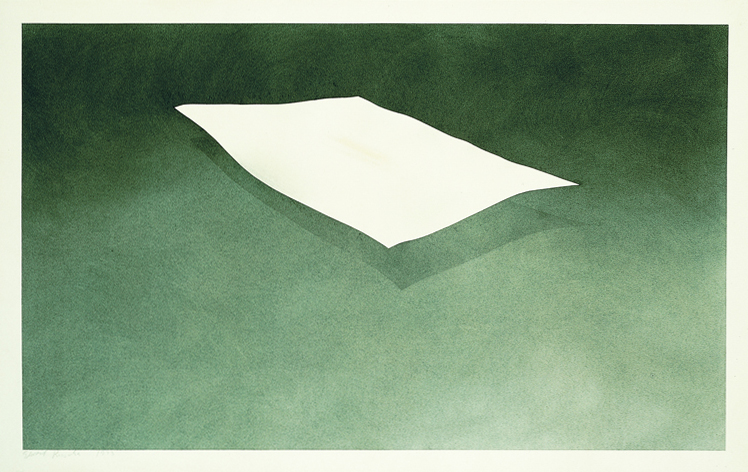 Ed Ruscha, <em>Suspended Sheet Stained with Ivy</em>, 1973