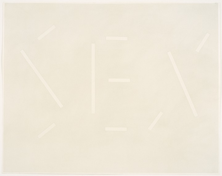 Ed Ruscha, Gray Sex, 1979, pastel on paper, 23 1/8 x 29 1/8 inches (58.7 x 74 cm). © Ed Ruscha. Courtesy Gagosian Gallery / Photo: Ellen McDermott