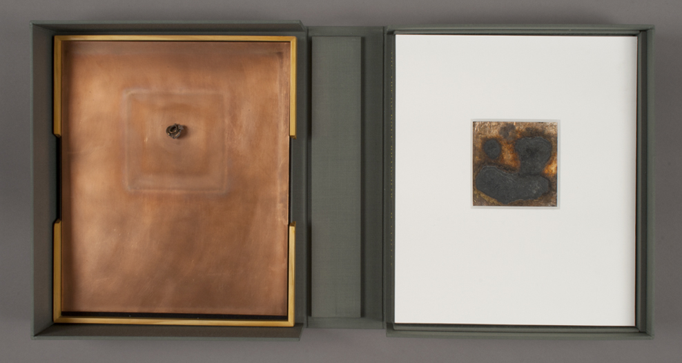 Left: <em>Spent Bullet</em> and Right: <em>Contingency Pour</em> from Dove Bradshaw, <em>The Art of Dove Bradshaw: Nature, Change and Indeterminacy</em>, 2003
