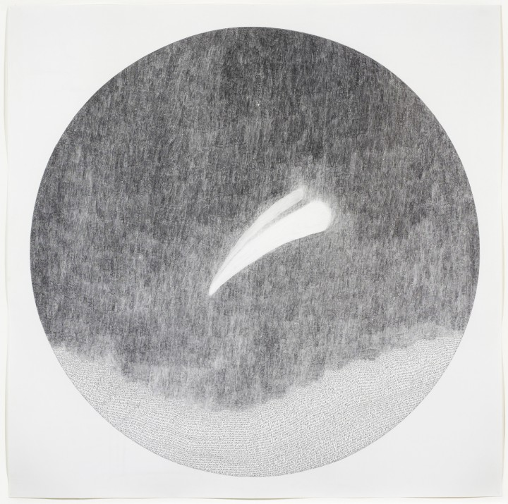 Russell Crotty, Hale Bopp Over Acid Canyon, 1999, ink and graphite on paper, 48 x 48 inches (121.9 x 121.9 cm). © Russell Crotty / Photo: Ellen McDermott