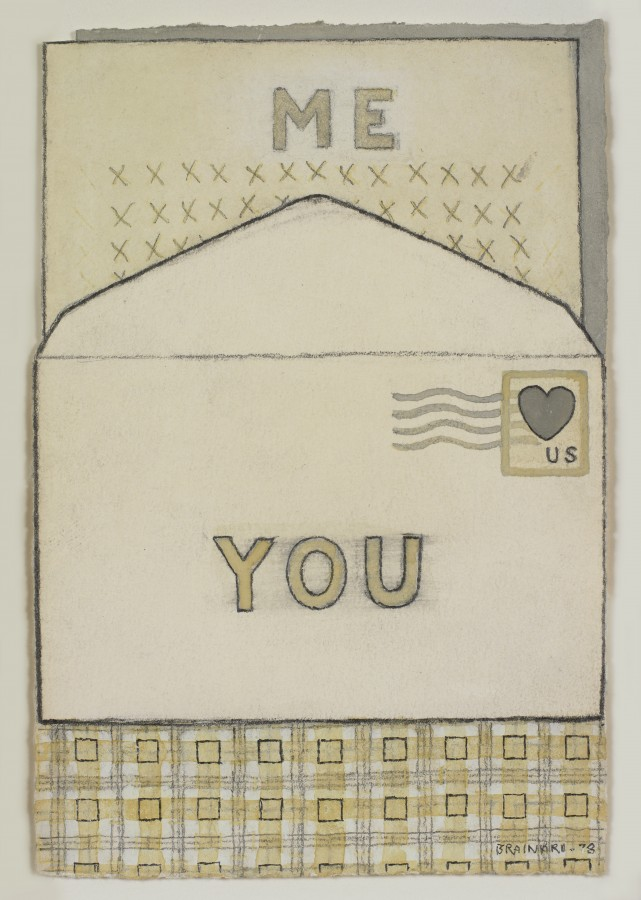 Joe Brainard, Untitled, 1978, graphite with acrylic on paper, 6 x 4 inches (15.2 x 10.2 cm). © Estate of Joe Brainard and courtesy of Tibor de Nagy Gallery, New York / Photo: Ellen McDermott