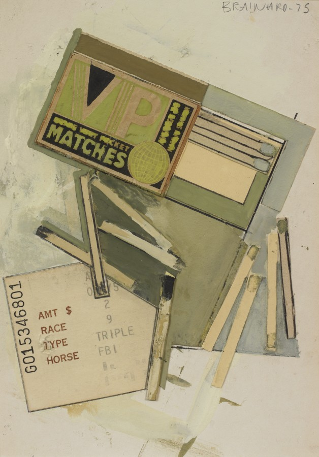 Joe Brainard, Matches, 1975, mixed media collage with gouache, 6 ¾ x 4 ¾ inches (17.1 x 12.1 cm). © Estate of Joe Brainard and courtesy of Tibor de Nagy Gallery, New York / Photo: Ellen McDermott