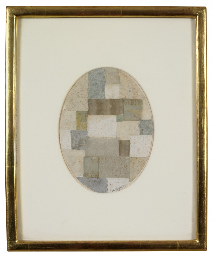 Anne Ryan, Untitled (Whites with Greens), 1952, paper and fabric collage with watercolor, 5 ½ x 4 inches (14 x 10.2 cm). © Courtesy Washburn Gallery, New York, and the Estate of Anne Ryan / Photo: Ellen McDermott