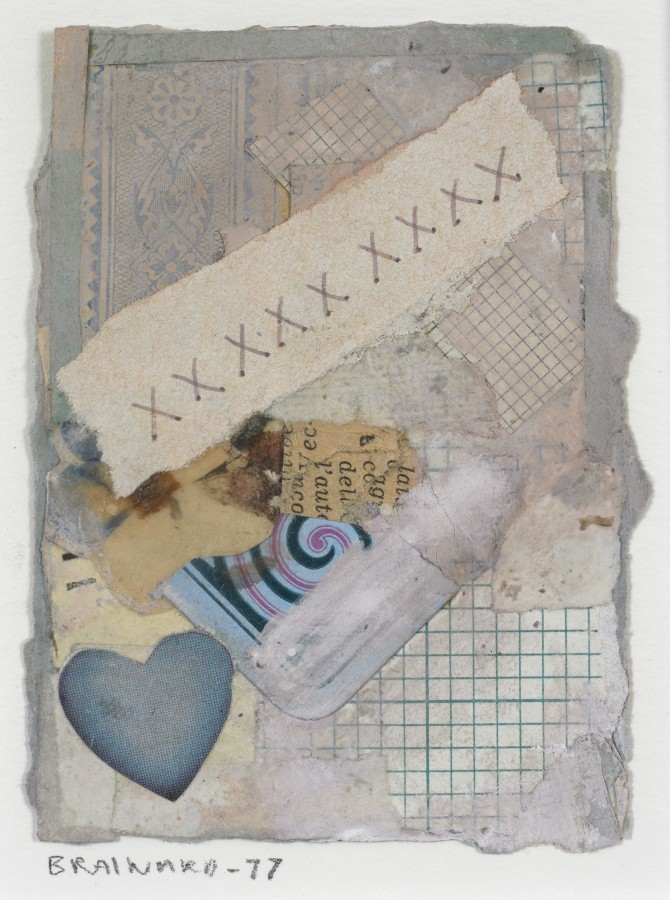 Joe Brainard, Untitled (XXX…), 1977, mixed media collage, 4 x 3 inches (10.2 x 7.6 cm). © Estate of Joe Brainard and courtesy of Tibor de Nagy Gallery, New York / Photo: Ellen McDermott